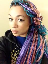 i tried it multi colored box braids box braids box and colored