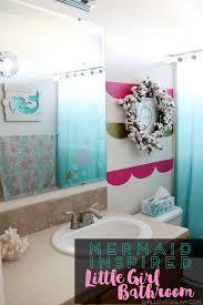 mermaid themed bathroom ingenious inspiration mermaid bathroom excellent ideas little