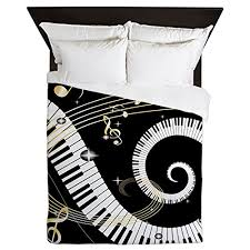 Unique Duvet Covers Queen Cafepress Piano And Musical Notes Queen Duvet Cover Printed
