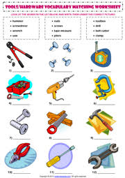hand tools esl printable worksheets and exercises