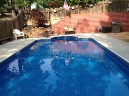 Rectangle inground swimming pool