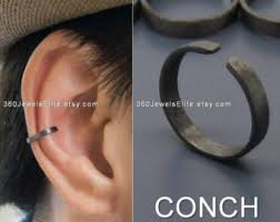 ear cuffs singapore conch ear cuff etsy