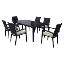 7 Piece Patio Dining Sets Clearance by Black Patio Dining Sets Home Design Ideas And Pictures