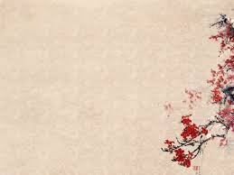 free plum blossoms flower templates backgrounds for powerpoint