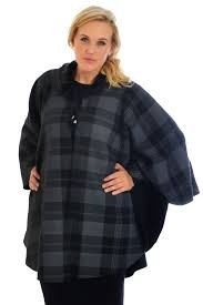 new womens poncho plus size la s cardigan tartan cape faux fur