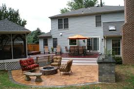 Picture Of Decks And Patios Maryland Custom Outdoor Builder Decks Porches Patios And More
