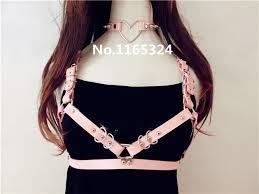 collar necklace leather images Hot leather trendy dark sweet heart leather collar necklace 100 jpg
