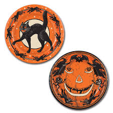 Vintage Halloween Decor Amazon Com Beistle Halloween Plates 9 Inch Orange Childrens
