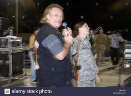 Bad Company Band Vocalist Brian Howe Pulls Air Force Capt Angela Jacobson On Stage