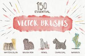 essential vector brushes collection brushes creative market