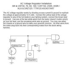 diagrams 475432 dirt bike voltage regulator wiring diagrams