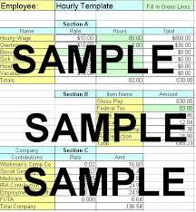 Employee Payroll Sheet Template Excel Payroll Spreadsheet For Quickbooks