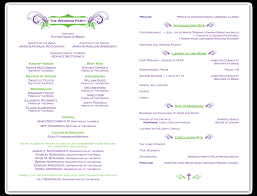 Wedding Programs Template Wedding Ceremony Program Template Free Calendar Template Letter