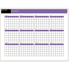 printable calendar year on one page 12 month calendar template aztec online
