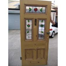 stained glass for front door glass panel exterior door traditional front door with gate glass