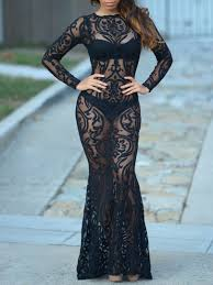 hot new years dresses hot selling new years black sheer lace sleeve