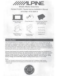 alpine ina w900bt installation manual