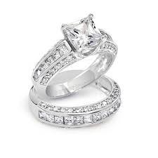 princess cut cubic zirconia wedding sets 14k gold cubic zirconia bridal sets tags white gold zirconia