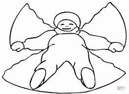 snow angel coloring free printable coloring pages