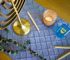 Decorating Your Home For The Holidays Diy Hanukkah Decorations U2013 Make A Table Runner