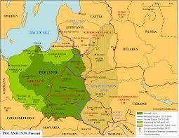 Map Poland Poland 1939 Present Map Stampworldhistory