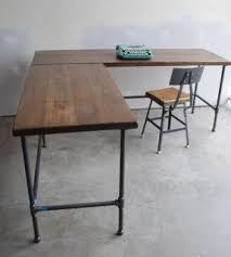 Wooden Table L Wood L Shaped Desk Foter