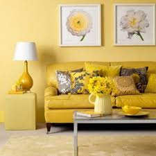 yellow livingroom furniture yellow warm colour schemes for living