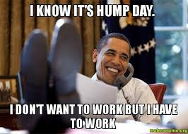 Hump Day Meme - i know it s hump day i don t want to work but i have to work
