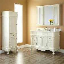 Sophisticated Bathroom Cabinets Set Vanity Linen For White On