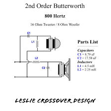 8 ohm bass speaker cabinet 800 hz leslie crossover design with 16 ohm horn driver and 8 ohm