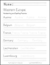 western europe print manuscript handwriting practice worksheet png