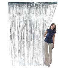 Silver Foil Curtains 3 X 8 Silver Foil Metallic Birthday Door Curtain
