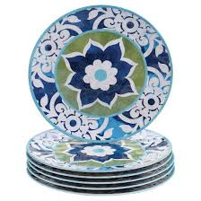 certified international barcelona melamine dinner plates set of 6