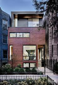 Modern Elevation Modern Brick Front Elevation With Custom Charcoal Metal Panels