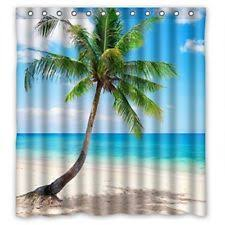 Colorful Fabric Shower Curtains Beach Island U0026 Ocean Tropical Shower Curtains Ebay