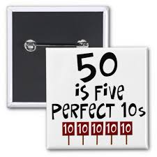 50 birthday sayings 50th birthday gifts 50 is 5 10s pinback button 50th