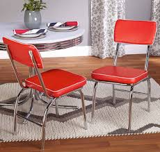 rose red retro chrome chairs coaster company red chrome plated