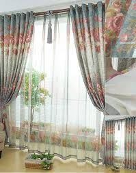 country blue flowers patterns buy curtains online
