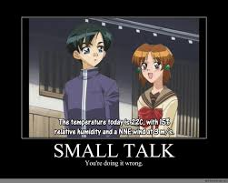 Small Talk Meme - small talk anime meme com