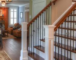 kids endearing wood and metal railings wrought iron stair