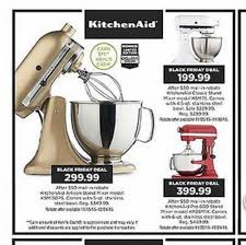 kitchenaid mixer black friday kohl u0027s black friday ad 2015 my frugal adventures