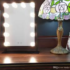 small mirror with lights white warm led hollywood makeup vanity mirror with 12 lights stage