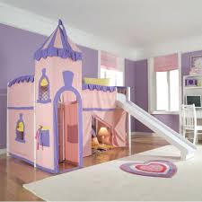 loft beds kids loft bed with tent adorable sweet purple crib