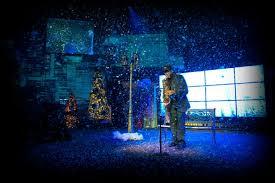 christmas spotlights rock christmas environmental projection triplewide media