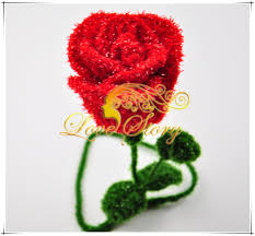 Retail Wholesale Christmas Decorations by Christmas Decorations New Arrival Colorful Handmade Woolen Rose