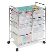 amazon com honey can do rolling storage cart and organizer with