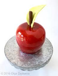 mirror glazed an apple for the teacher cake olga zaytseva