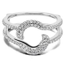 Wedding Ring Wraps by Halo Wedding Ring Wrap Guard Enhancer Made In Solid Gold Or Silver