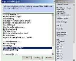 reset epson 1390 printer epson photo 1390 printer service adjustment program service