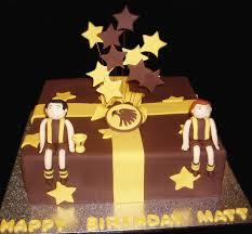 hawthorn birthday cake by nada u0027s cakes canberra sports themed